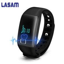 Lasam T1s Blueooth смарт-браслет монитор сердечного ритма LED Экран группа IP68 Водонепроницаемый браслет для IOS Android Xiaomi телефон