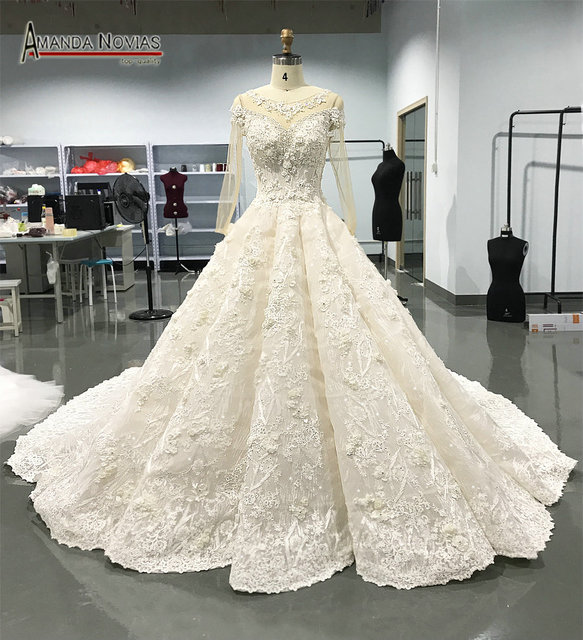 Amanda Novias 2018 New Model Mermaid Wedding Gown Beading: Aliexpress.com : Buy 2018 New Arrivals Luxury Long Train