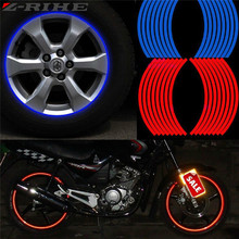 New! 16 Pcs Strips Wheel Stickers And Decals 17 18 Reflective Rim Tape Bike Motorcycle Car 5 Colors Styling Universal