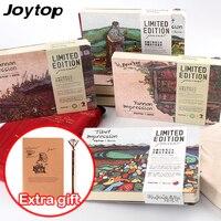 JOYTOP Literary Landscape Stationery Vintage Pastel Drawing Pockets Notepad Lovely A5 Notebook 4 Styles Gift 288P