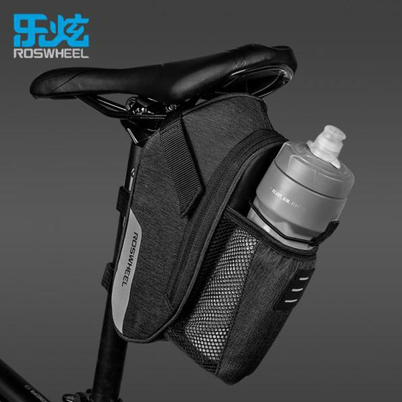 ROSWHEEL LOHAS SERIES Bicycle Tail Bags Large Capacity Simple Design Bike Kettle Saddle Bag New Product Cycling Equipment