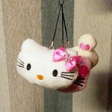 New Arrive 1PC 8cm Cute Soft Plush Pendant Kids Doll Stuffed Hello Kitty/Easily Bear Gift For Children Key Chain BL1159