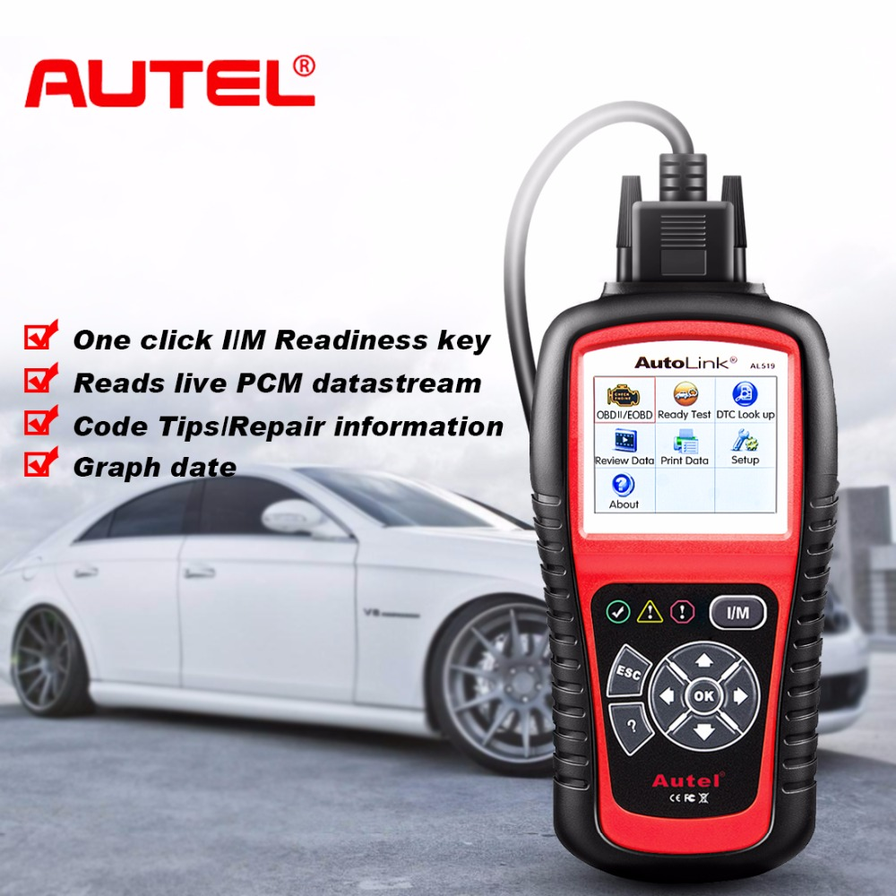 Autel AutoLink AL519 Car Scanner Code Reader Car Diagnostic Automotive Tool AL519 EOBD CAN Automotive Scanner Diagnostic-Tool