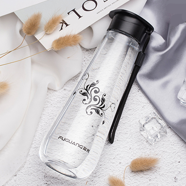 520ML Creative Sports Water Bottle with Cover One hand direct drinking Bpa Free Cute Leak Proof Plastic Bottle