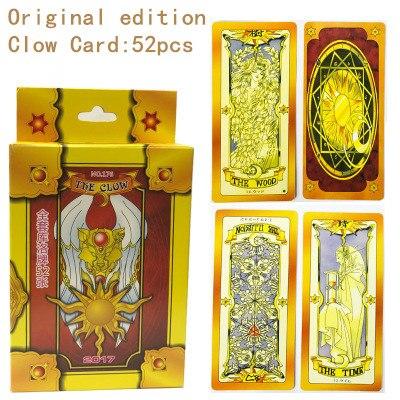 Card captor Sakura Clearcard Cosplay Sakura Kinomoto Magie Clow Karte 52 stücke Tarot Vollen Satz Karte Captor Sakura Cosplay Requisiten