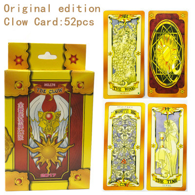 Faithful Cardcaptor Sakura Clearcard Cosplay Sakura Kinomoto Magic Clow Card 52pcs Tarot Full Set Card Captor Sakura Cosplay Props Latest Technology Costume Props