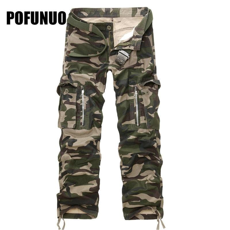 2017 nieuwe heren cargo broek legergroen grote zakken decoratie mens - Herenkleding