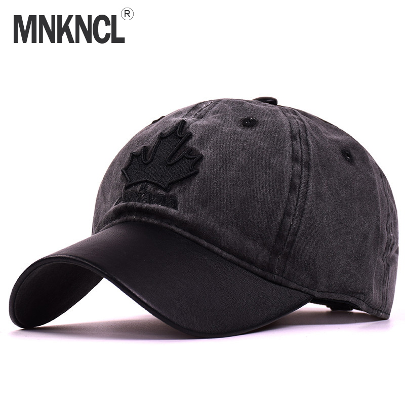 2017 New High Quality Baseball Cap Unisex Sports Leisure Hats Maple Leaves Embroidery Sport Cap For Men and Women Hip Hop Hats fashion printed skullies high quality autumn and winter printed beanie hats for men brand designer hats