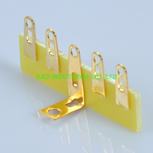 10pcs Guitar Tag Strip Terminal Turret Board Point to 5 Lug