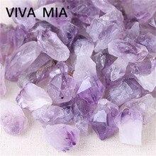 Natural Amethysts Stone DIY Jewelry Earrings Bracelet Rock Crystal Quartz Raw Gemstone Mineral Decoration