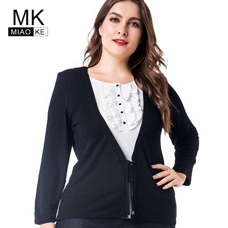 ba6f914e105c8 Miaoke plus size long sleeve t-shirt women clothing 2018 autumn new fashion  Casual flexible