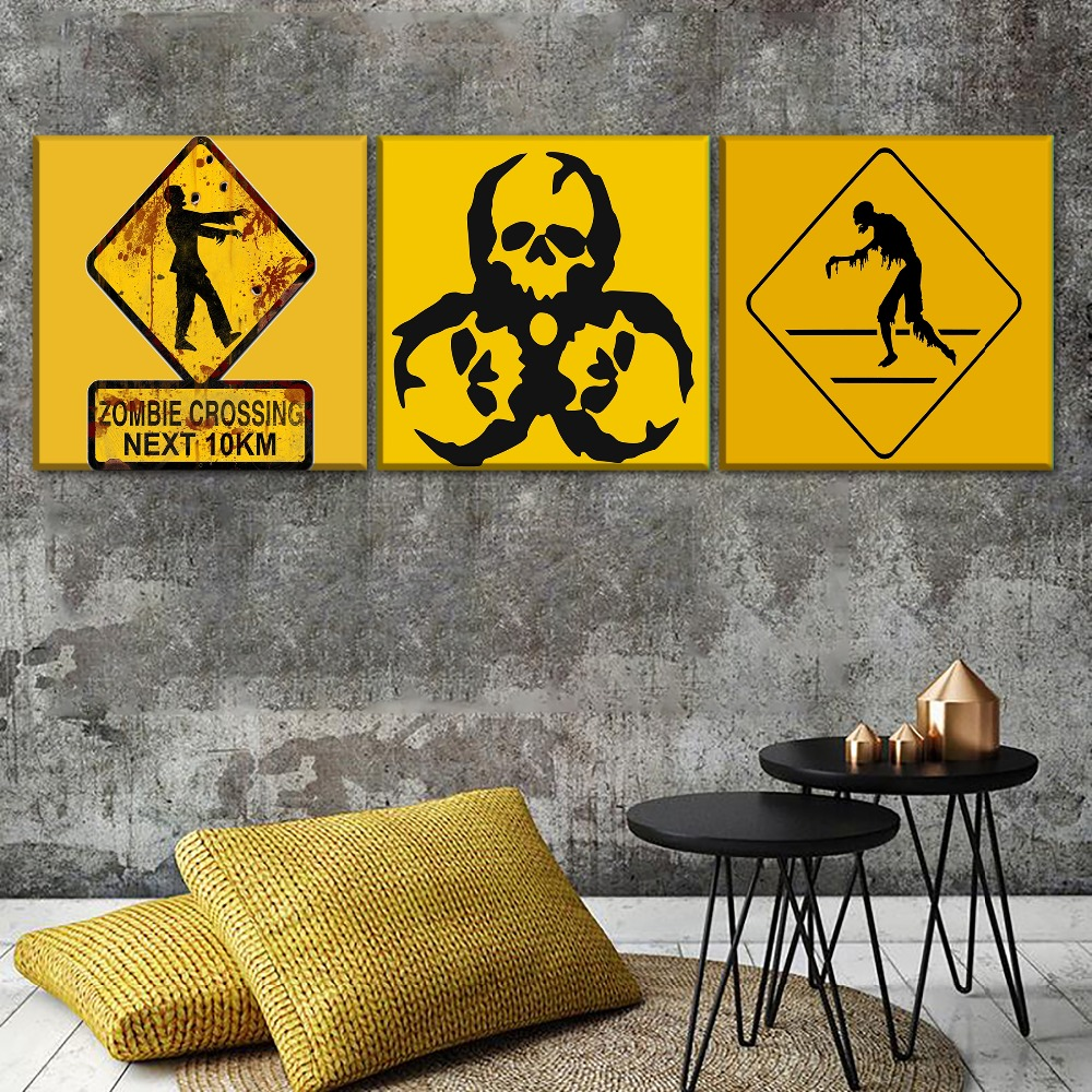Buy wall art zombie and get free shipping on AliExpress.com