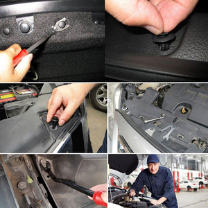Image 5 - 350Pcs Car Body Plastic Push Pin Rivet Fasteners Trim Moulding Clip Screwdriver
