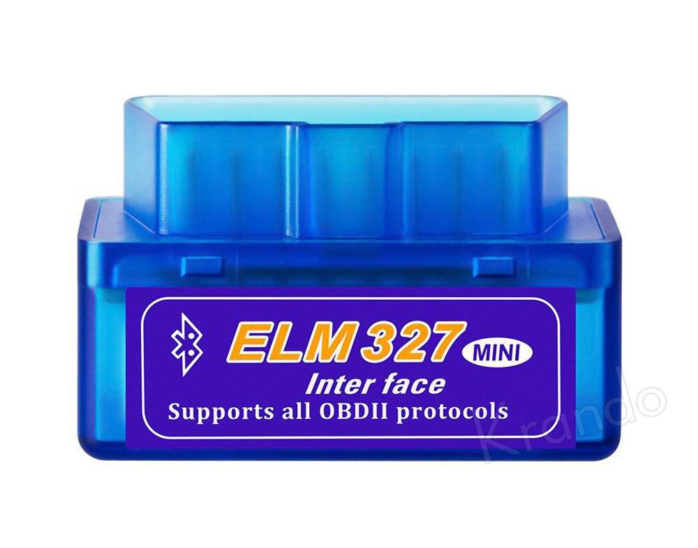 Krando Mini OBD2 ELM327 V1.5 narzędzie diagnostyczne Bluetooth v 1.5 obd2elm z systemem Android moment obrotowy PIC czytnik kodów