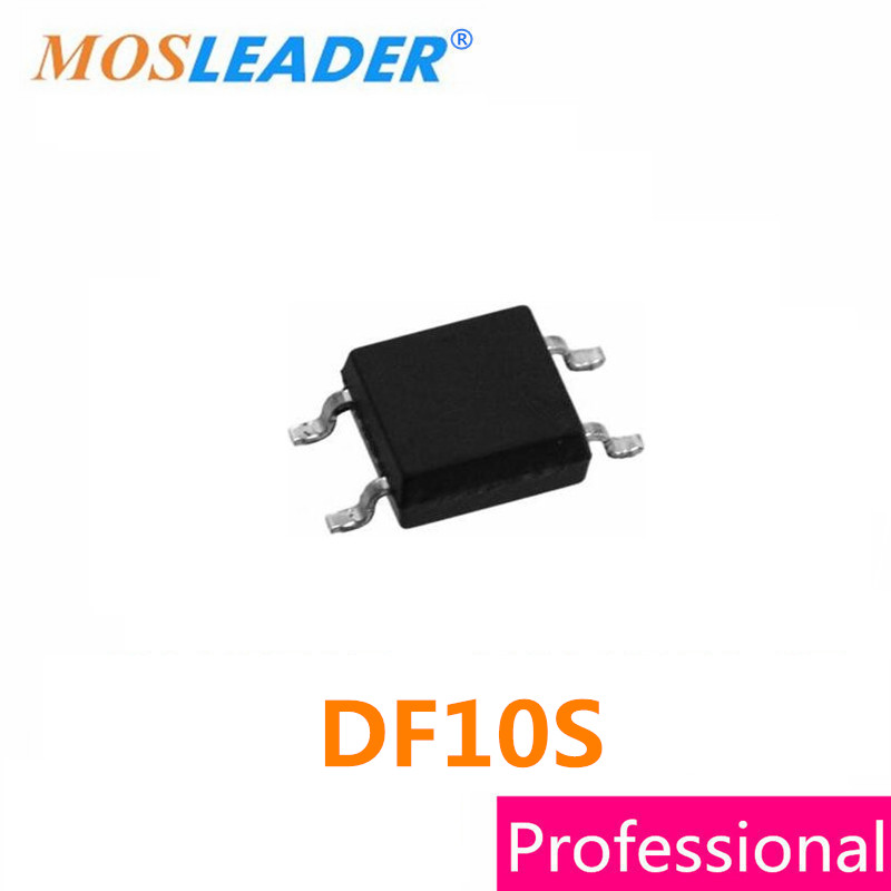 DF10S SOP4 300PCS 500PCS 1A 1KV 1000V DF10 Bridge recetifirer High quality mb10s sop4 1a 1000v mb6s mb8s