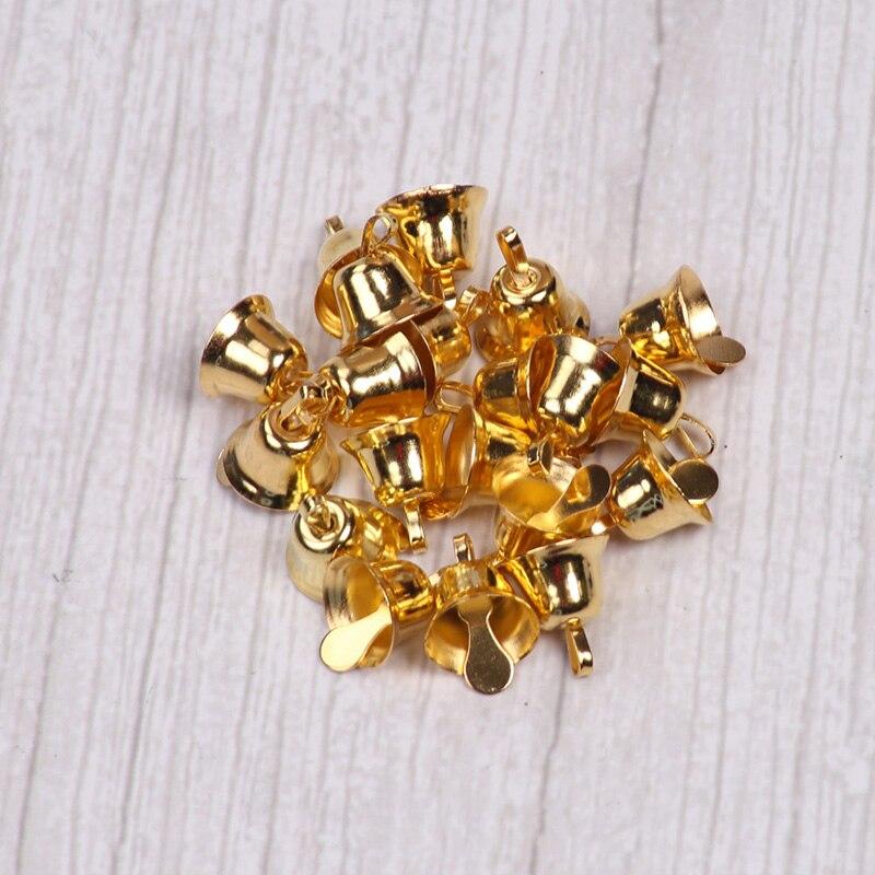 5000 шт. маленькие колокольчики для рукоделия, мини колокольчики, Золотые Серебряные подвесные металлические колокольчики, Свадебные Рождественские украшения, аксессуары - 2