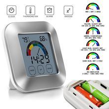 Комнатный термометр цифровой для кухни монитор влажности сенсорный экран подсветка таймер цифровой дисплей 1,10