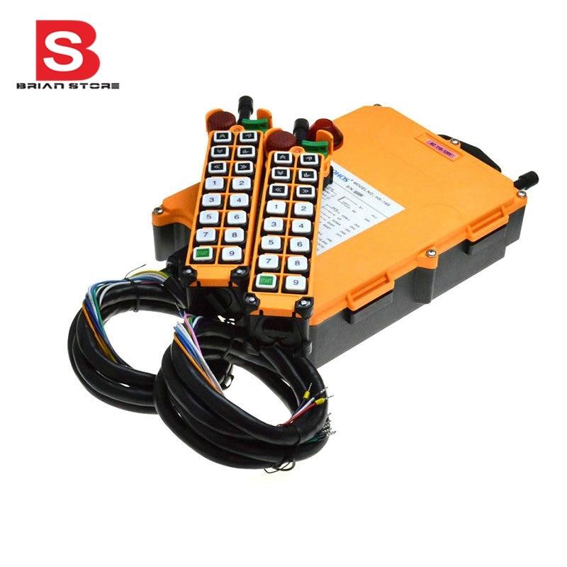 12 24VDC 2 Speed 2 Transmitter 16 Channels Hoist Crane Industrial Truck Radio Remote Control System
