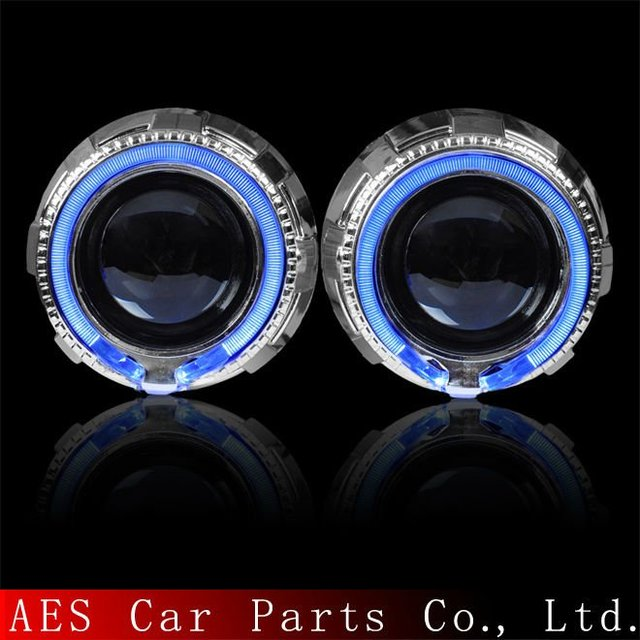 NEW ARRIVAL!  AES  light guide of angel eyes mini h1 bixenon hid projector lens kit