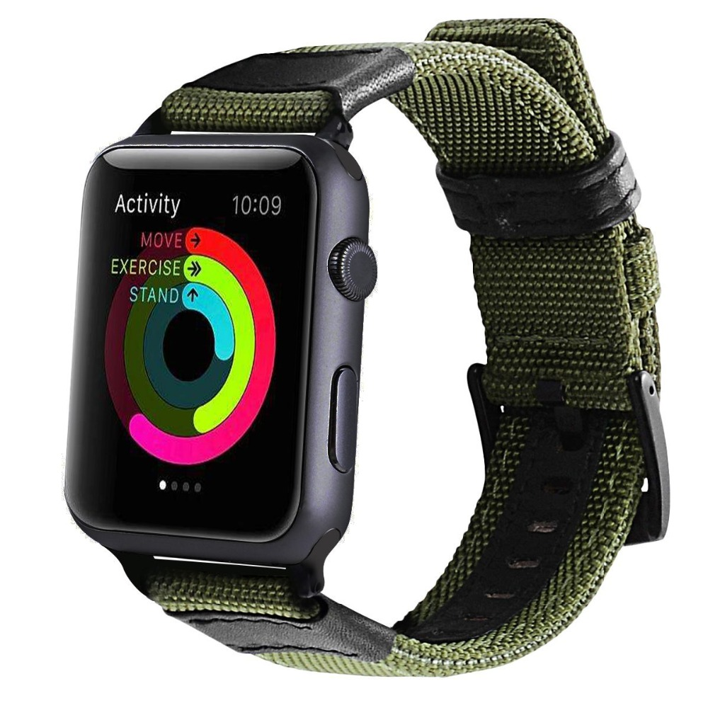 Military Sport Style Nylon Watch Strap for Apple Watch