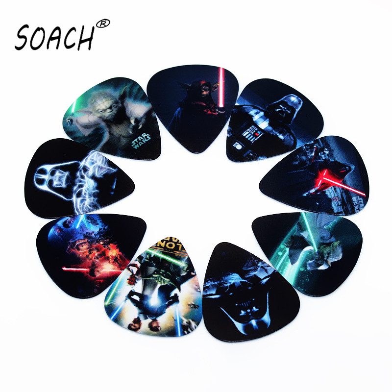 SOACH hot PICKS fashion10pcs Newest Star Wars Guitar Picks Thickness 0.71mm Musical instrument accessories