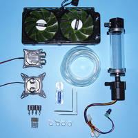 用インテルamd 115xコンピュータcpuのグラフィックスカードled水冷却クーラーミュートラジエーター水タンク可変