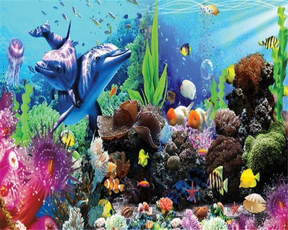 Beibehang kinderzimmer dekoration 3D tapete unterwasserwelt ...