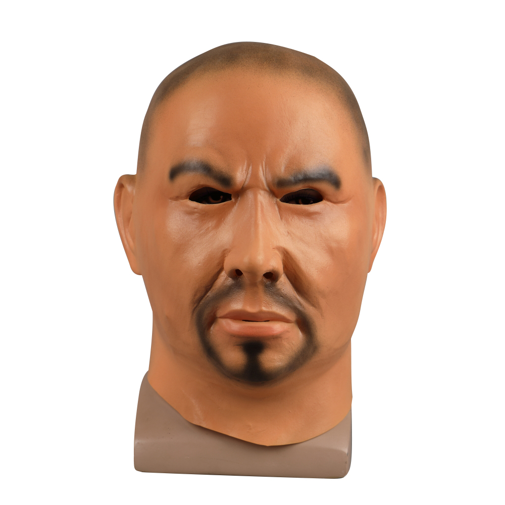 Ferocious Strong Man Halloween Mask Full Face Latex Mask Realistic Gangland Cosplay Party Mask