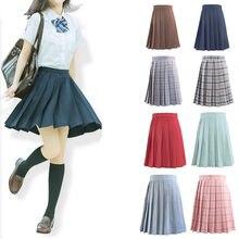 81010f80af3f Tree&Sea JSK Women Pleated Skirt School Students chorus skirts Uniform  Plaids skirt Female Skirts any size