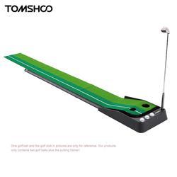 TOMSHOO Indoor 3 м для гольфа Тренер с двойными отверстиями тяжести мяч возвращения индикатор выравнивания для новичков до профессиональных
