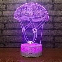 크리 에이 티브 led 분위기 3d 책상 램프 아크릴 usb 테이블 램프 거실 침대 옆 장식 램프 어린이 침실