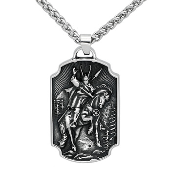 Nordic Viking Odin Yggdrasil Stainless Steel Necklace Double Side  Viking Necklace