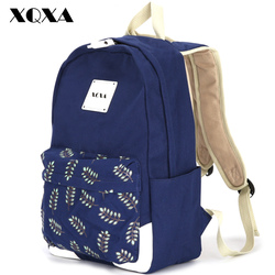 Xqxa fashion girl school bags for teenagers cute leaf printing canvas women backpack mochila escolar casual.jpg 250x250