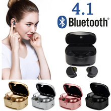 Rose Gold Bluetooth Earphones TWS Earphones True Wireless Earbuds Stereo Music Headset With Mic For Smart Phones iphone samsung