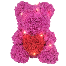 200pcs Cheap Artificial Flowers for Home Wedding Decoration Accessories Foam Teddy Bear Roses