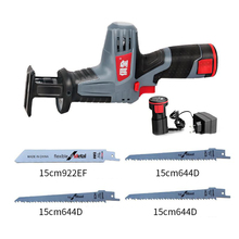 цена на 12V 2000mAh Portable Charging Reciprocating Saw Electric Saber Saw for wood mutifunctional power tools with lithium battery