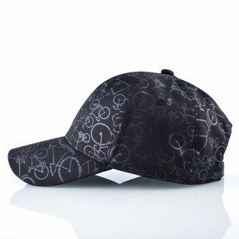 New Baseball Hat For Men Fashion Print Bicycle Snapback Cap Women Unisex Vintage Outdoor Sport Dad Hats Summer Visor Bone 2