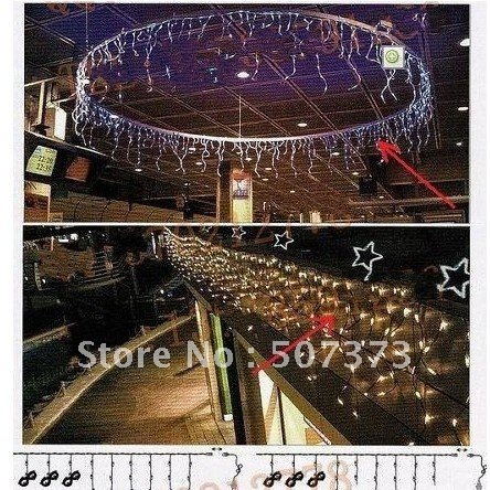 Linkable Outdoor Icicle Christmas Xmas Holiday Lights 160 white LED ,  new year valentine holiday HALOWEEN ornament decoration,