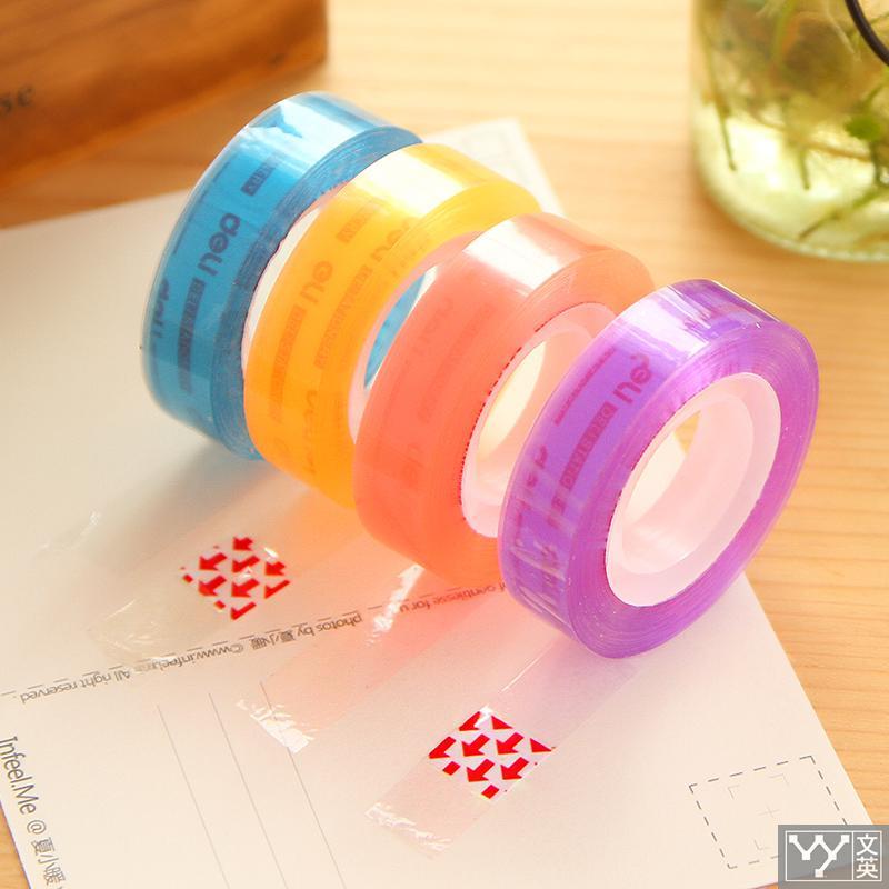 Cute Stationery Adhesive Tape 30023 Student Transparent Papermanual 2 Roll Card Kawaii Cute Washi Masking Tape Gift цена и фото