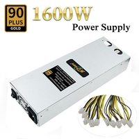 1600W Mining Power Supply For Antminer S9 S7 L3 D3 APW3 A6 A7 Machine Miner High