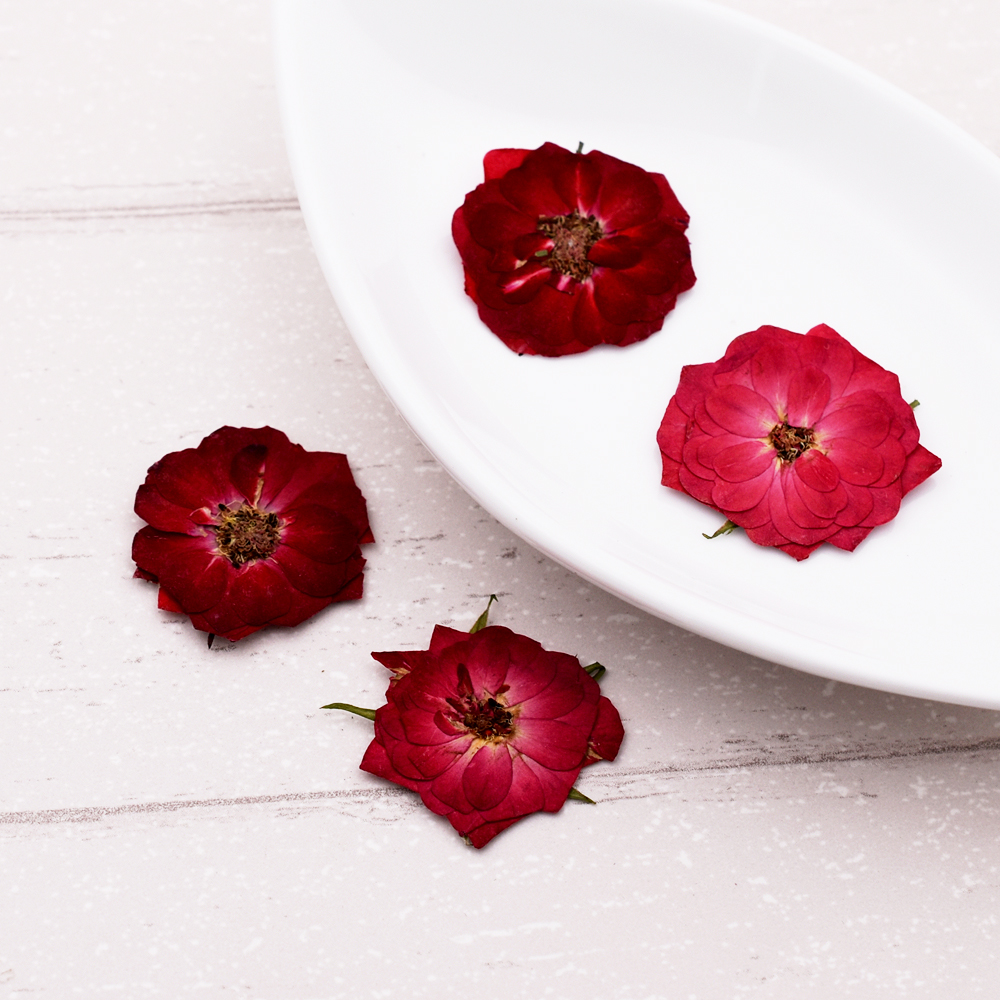 10pieces Rose Flower Natural Dried Flowers Diy Pressed Herbarium Flower Decorative Crafts Glass Globe Filler Jewelry Findings Bringing More Convenience To The People In Their Daily Life