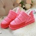 Inverno novas mulheres para baixo botas de neve de algodão quente com padrão de impressão feminino senhora sapatos moda casual maré populares DT675