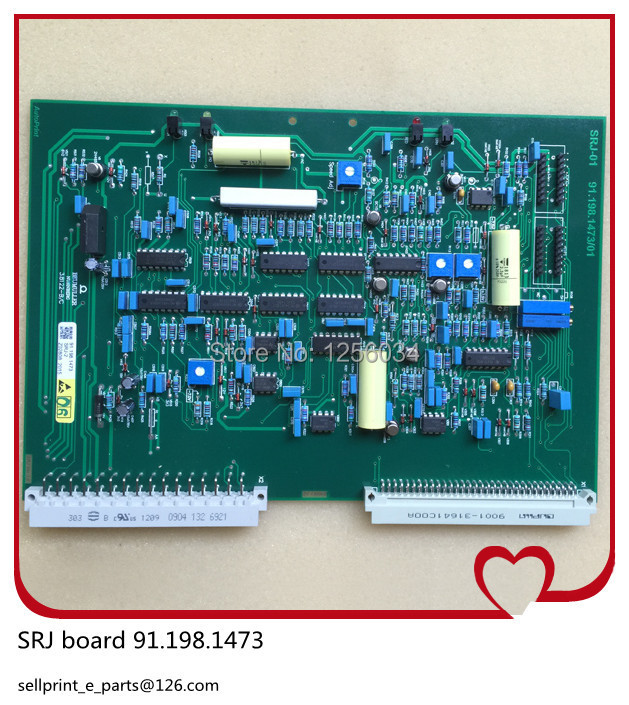 2 pieces heidelberg offset printing machine boards SRJ HDM 91.198.1473, heidelberg dampening dashboard 91.198.1473/B