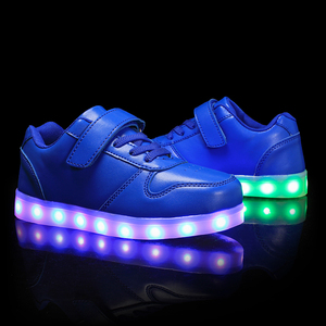Image 4 - Größe 25 37 Kinder LED Schuhe für Jungen Mädchen USB Ladegerät Schoenen Kinder Chaussure Enfant Luminous Glowing Sneaker mit licht Sohle