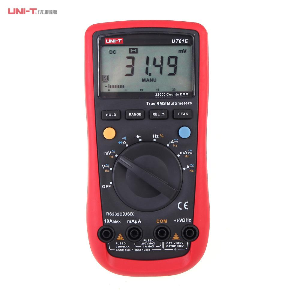Modern LCD Display Digital Multimeters Electrical Handheld Tester Multimetro Ammeter Multitester UNI-T UT61E high quality uni t ut210e handheld lcd digital multimeters ac dc