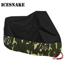 ICESNAKE Motors Bike Motorcycle Covers Dust Waterproof Outdoor Indoor Rain UV Protector Cover Coat For Bicycle Scooter