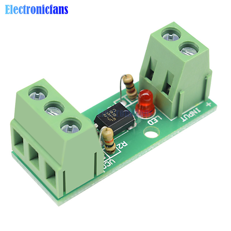 12V 1 Channel Optocoupler Isolation Module Isolated Board No Din Rail Holder PLC Processors 80KHz PC817 EL817 Drive Motor Board image