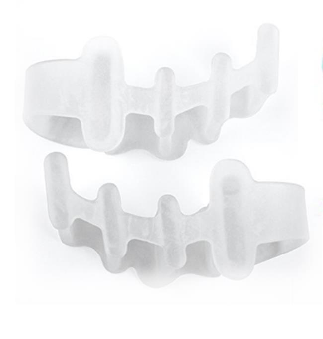Image 2 - 1 pair Silicone Toe Separator Hallux Valgus Orthotics Thumb Bunion Care Overlapping Toe Hammer  Toe Corrector Foot Care Tool-in Foot Care Tool from Beauty & Health