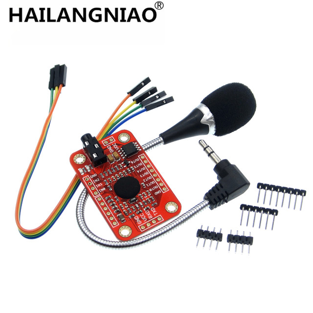 US $18 24 5% OFF 1set Speed Recognition, Voice Recognition Module V3,  compatible with Ard-in Replacement Parts & Accessories from Consumer  Electronics