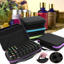 купить 60-Bottle Essential Oil Case Carrying Holder Perfume Oil Portable Travel Storage Box Nail Polish Organizer Storage Box дешево